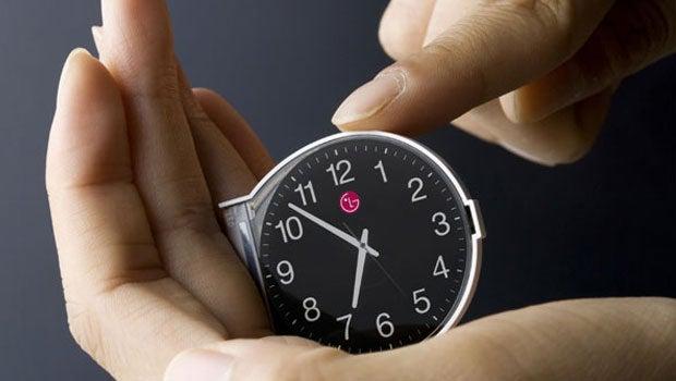 Round LG smartwatch