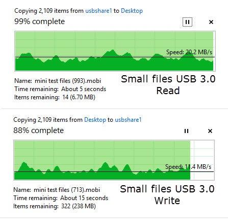 Small files USB 3.0