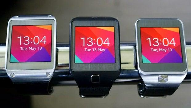 Samsung Galaxy Gear running Tizen