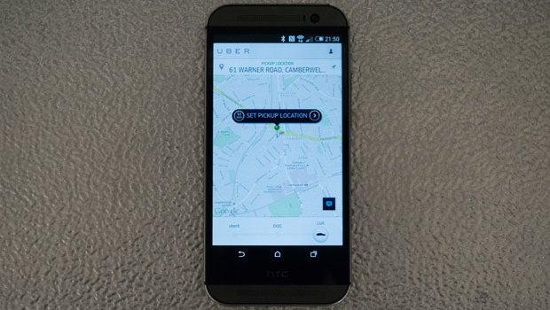 Uber taxi app