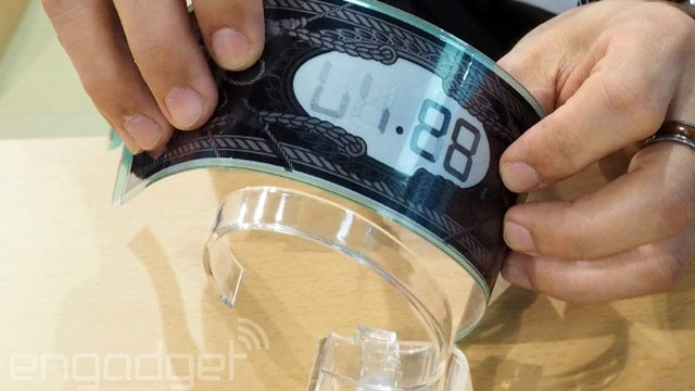 Curved E Ink display