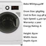 Beko WDA 91440W