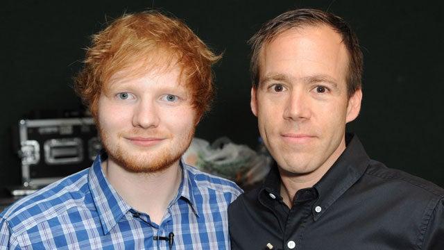 Ed Sheeran with Beats CEO Luke Wood