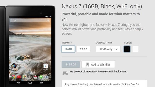 Nexus 7 2 stock shortages
