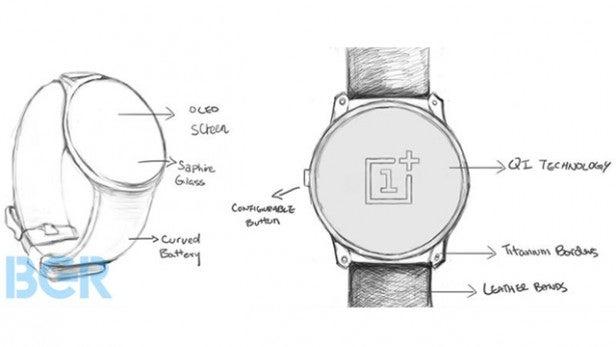 OnePlus Watch esboço smartwatch WearOS