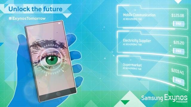 Samsung Galaxy Note 4 retina scanner