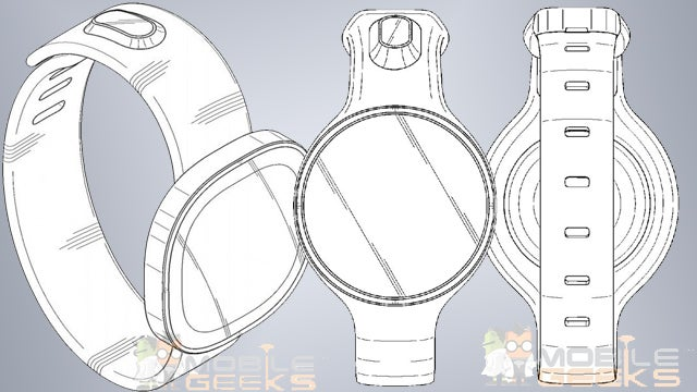 Samsung round faced smart watch patent
