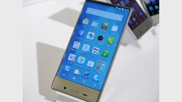 Sharp Aquos Crystal smartphone shows off true edge-to-edge display