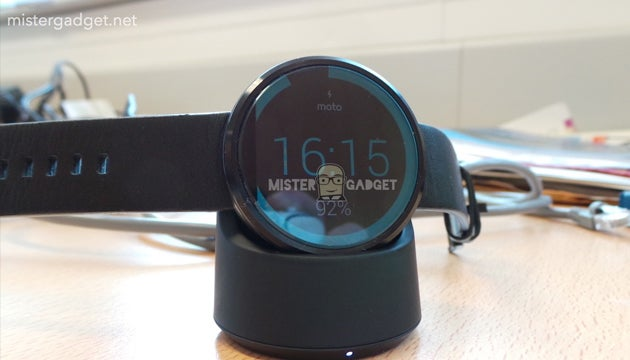 Moto 360 and its wireless charging dock