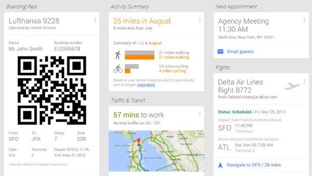 Google Now Flights update