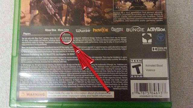 Xbox One Destiny install size