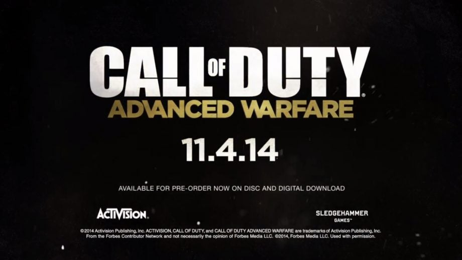 CoD AW release