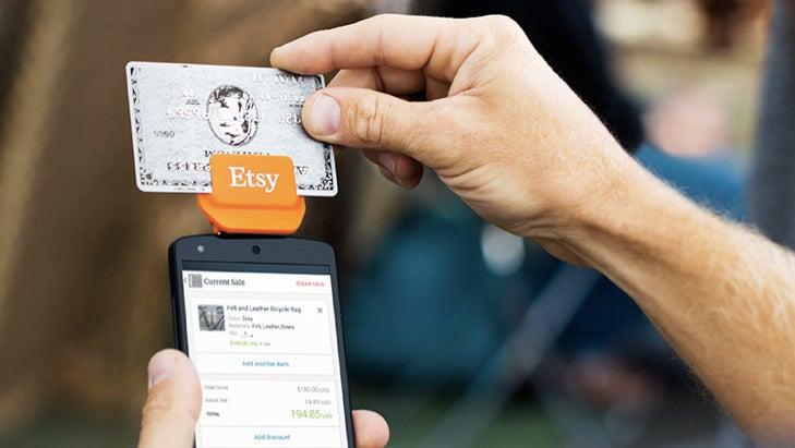 Etsy card reader