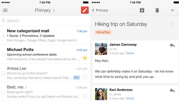 iPhone 6 Gmail