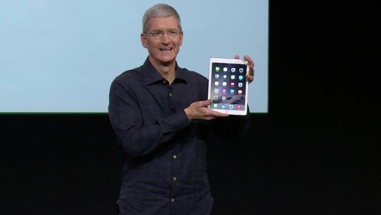 Tim Cook Apple iPad Air 2