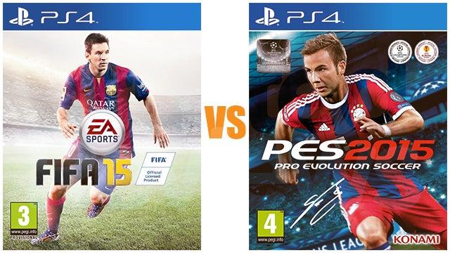 PES 2015 vs FIFA 15