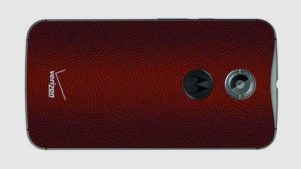 Moto X Verizon football leather
