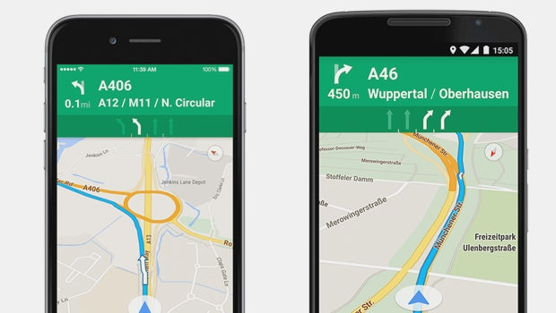 Google Maps for iOS and Android now offering motorway lane ... on google earth update 2014, google maps updated 2012, google maps street view, google search, google sky,