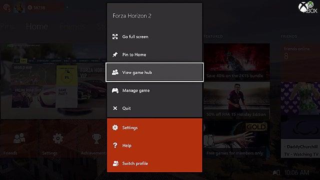 Xbox One Game Hubs