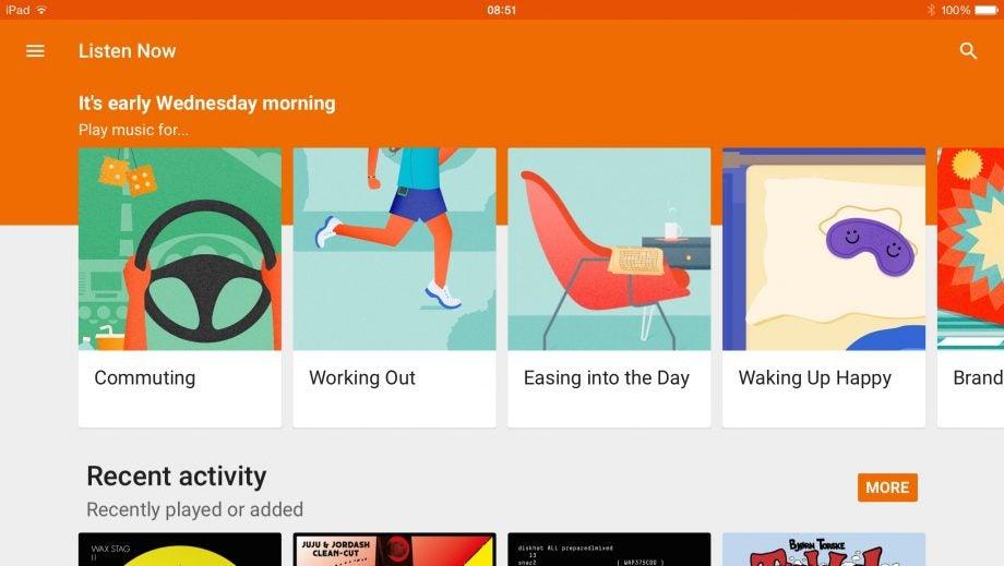 Google Play Music for iPad