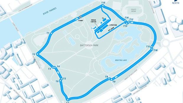 London Formula E track