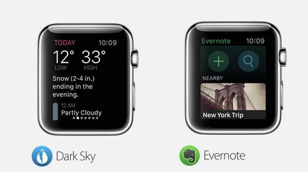 Apple Watch Dark Sky Evernote