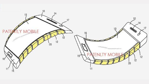 Samsung flexible phone patent
