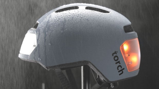 Torch T2: the bike helmet with a built-in headlight