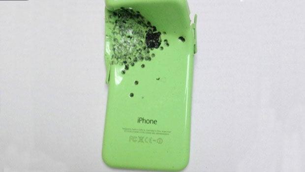 iPhone 5c gun shot