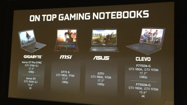 Nvidia G-Sync Ultimate Gaming Notebooks
