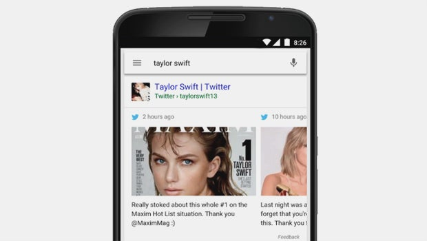 Google Search Twitter Swift