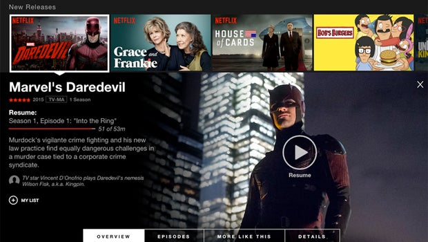 Netflix web revamp