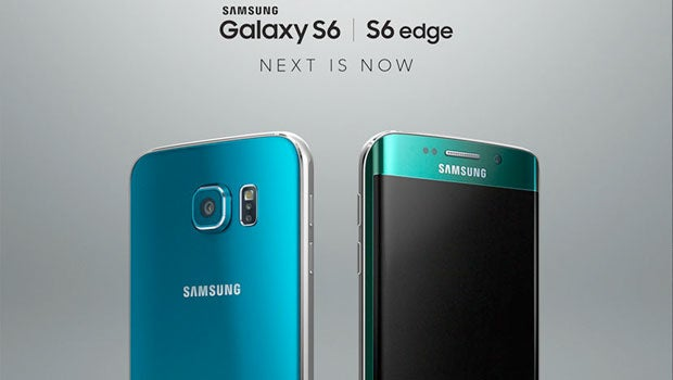 Samsung Galaxy S6 blue and green