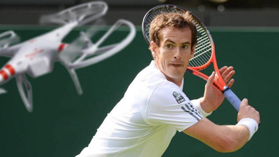 Andy Murray Wimbledon drone