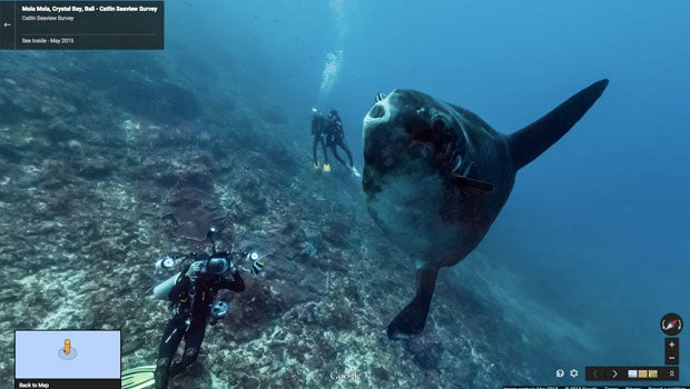 Underwater Google Street View