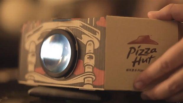Pizza Hut projector box
