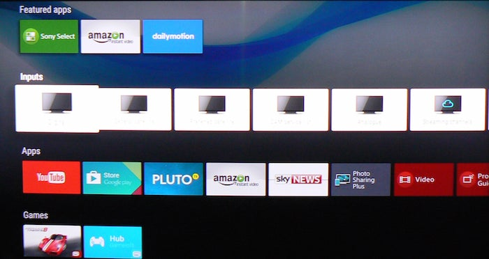 sony android smart tv system 2015 review trusted reviews. Black Bedroom Furniture Sets. Home Design Ideas