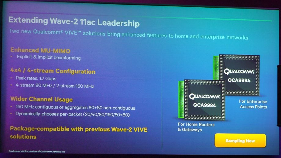 Qualcomm announces two new second-wave Wi-Fi 11ac processors