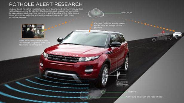 Range Rover pothole