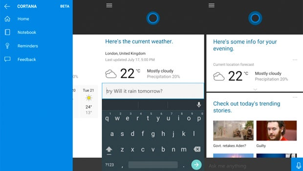 Cortana Android leak
