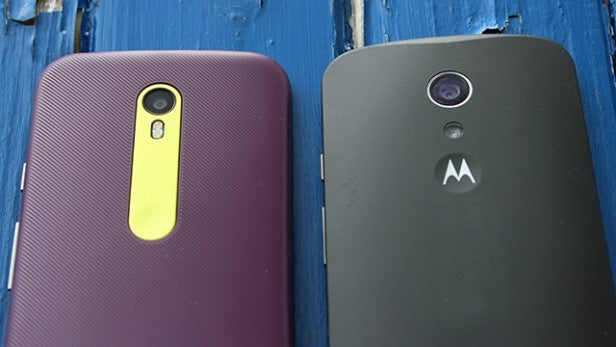moto g. 2015 moto g (left) and 2014 (right)