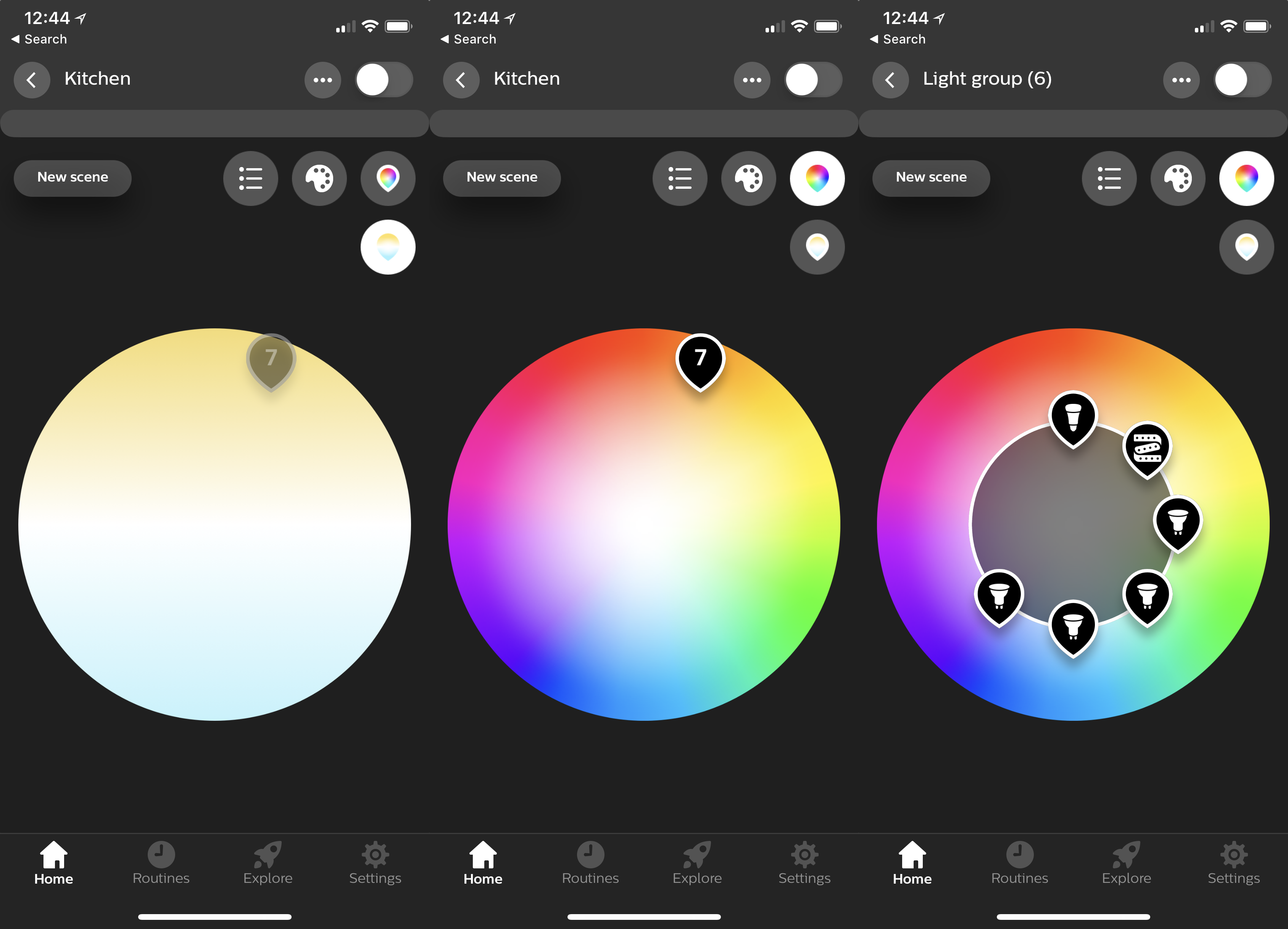 Philips Hue App 3.0 Colour Selection