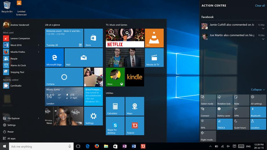 Windows 10 15