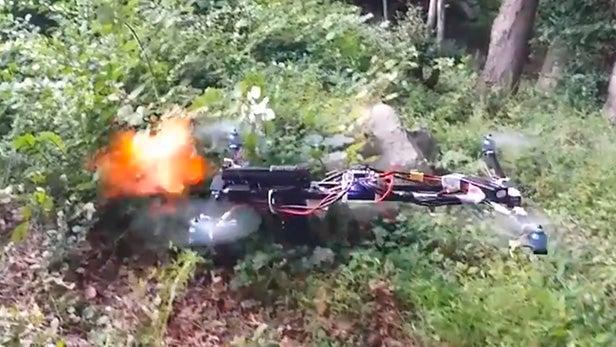 gun drone