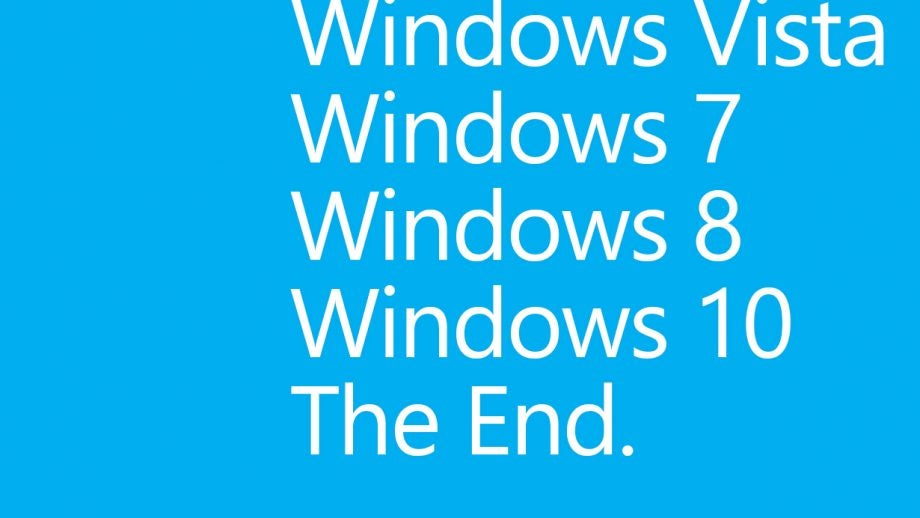 Windows ends