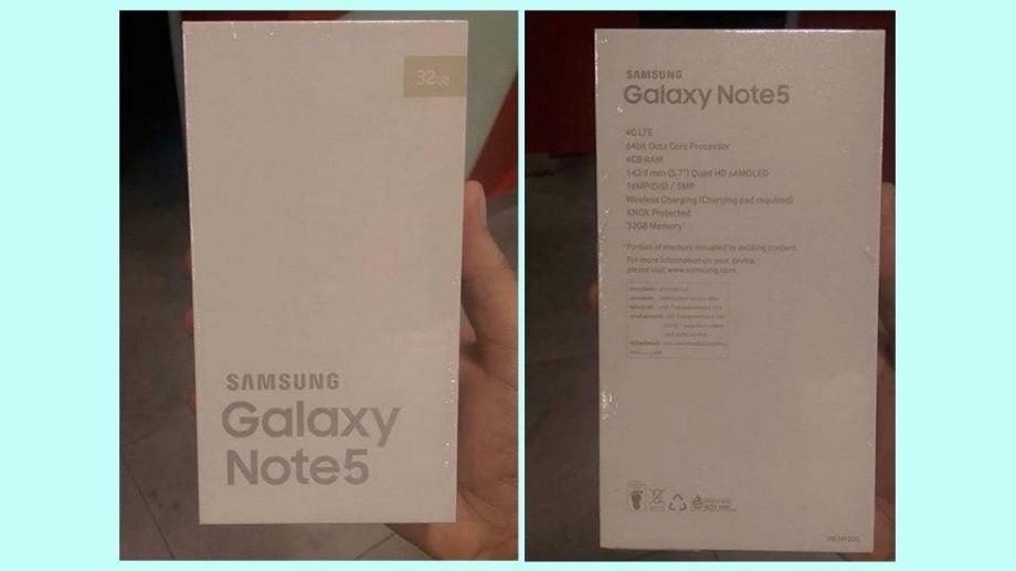 Note 5 box