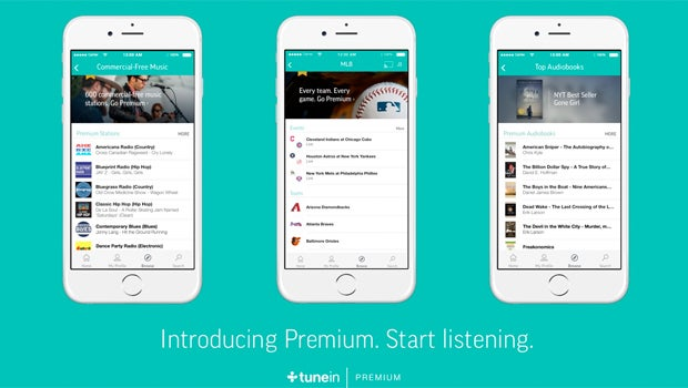 TuneIn Premium brings live sports, audiobooks and ad-free