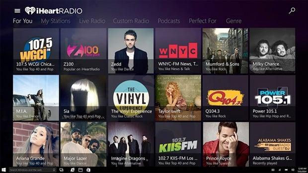 Windows 10 iHeartRadio app