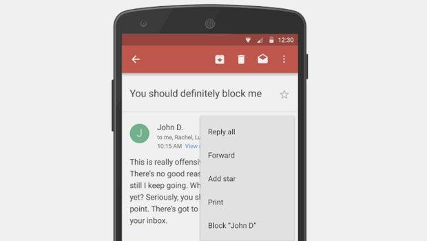Gmail block
