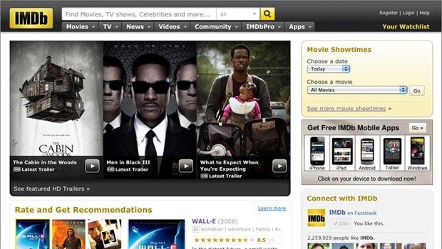 recent imdb homepage